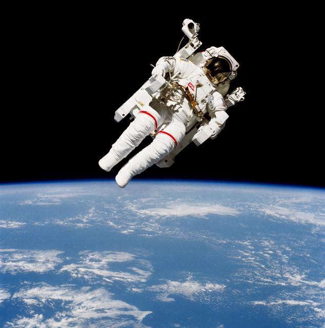 Astronaut in a Manned Maneuvering Unit (courtesy of  NASA )