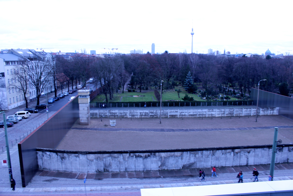 "The ""death zone"" - part of the wall remaining separating East and West Germany"