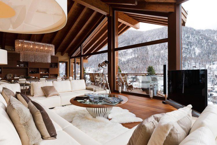Contemporary alpine designer chalet rental collection verbier