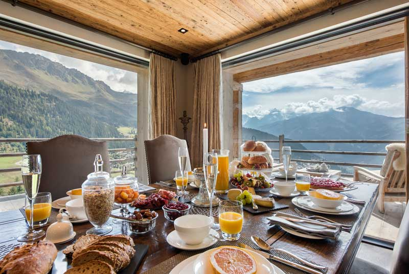 Large Verbier Chalet, Summer Breakfast in the Alps