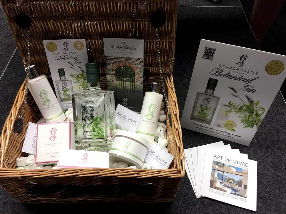 Gordon Castle Luxury Hamper Prize with beautiful products from The Gordon Castle Walled Garden