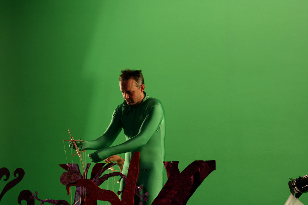 Filming 'Spider' video