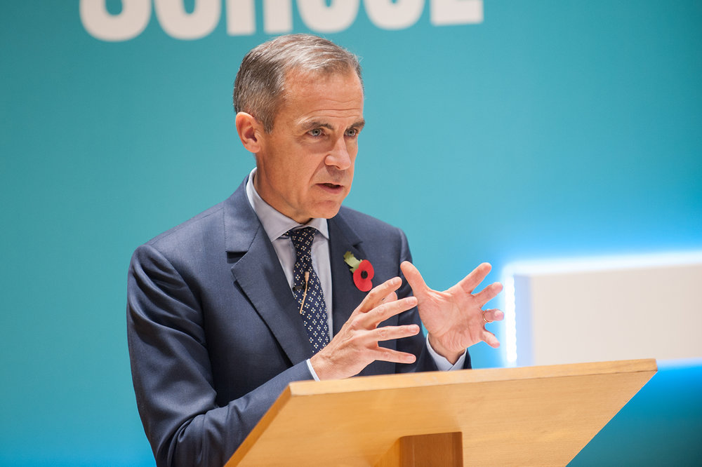 Mark Carney, Bank of England Governor speaking at a conference event in London