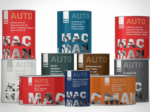 Design de embalagem para Macman.
