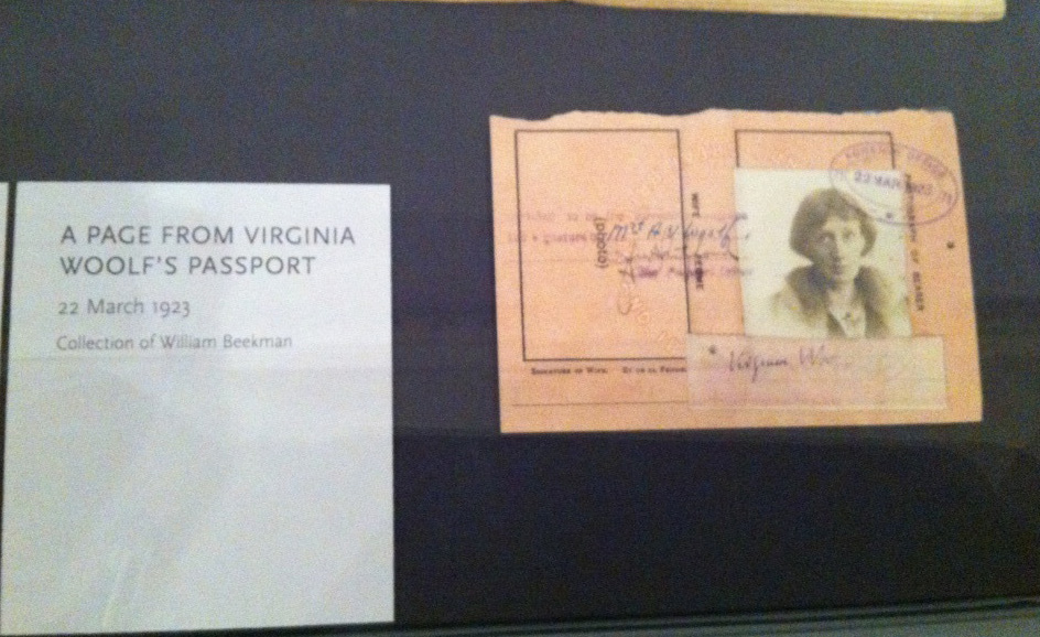 Virginia Woolf's Passport