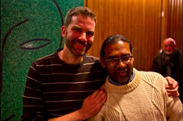 Me with author Niven Govinden (photo by Justin David)
