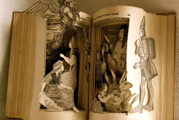 An Altered Book: Fairy Tales by Hans Christian Andersen - by artist Susan Hoerth
