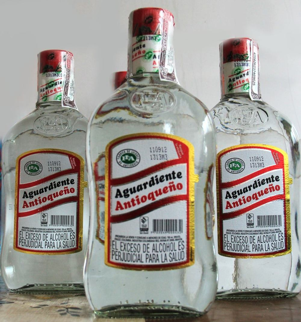 J. drinks a phenomenal amount of an alcohol called aguardiente in this novel.
