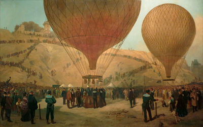 During the seige of the Paris Commune balloons were used to transport mail and help key people escape.