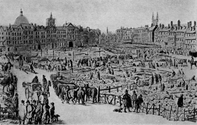 The Smithfield meat market described dates from the 10th century