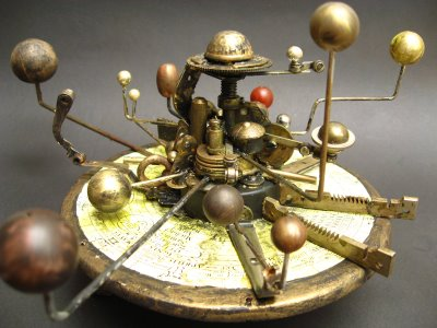Eustace keeps an orrery in his room which demonstrates the motions of the planets
