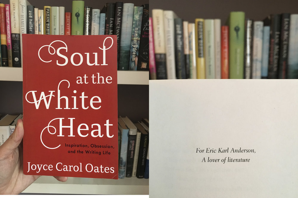 One of the biggest honors of my life is when Joyce Carol Oates dedicated this book of nonfiction to me.