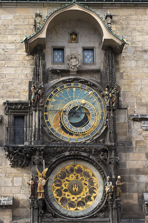 Jakub and Lenka have intimate scenes at the Prague Astronomical Clock - the oldest working astronomical clock in the world.