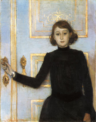 The Portrait of Marguerite van Mons  by Theo van Rysselberghe on the cover of Li's paperback edition of Bowen's  The Death of the Heart