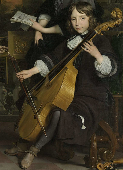 Detail of a painting from 1671 by Abraham van den Tempel