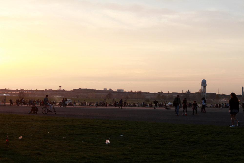 Det blev vår över Tempelhofer Feld.