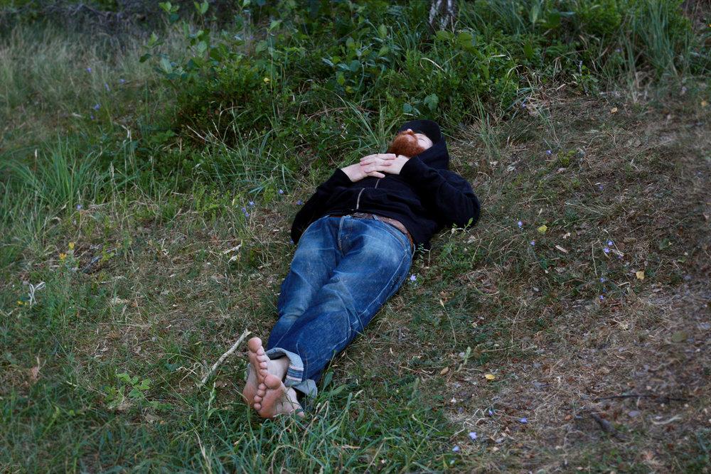 Till exempel i Dalsland hos denna sömniga bror.