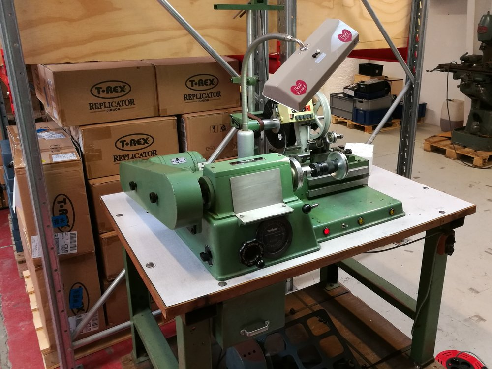 The Swiss made, foot-operated winding machine is in the house!