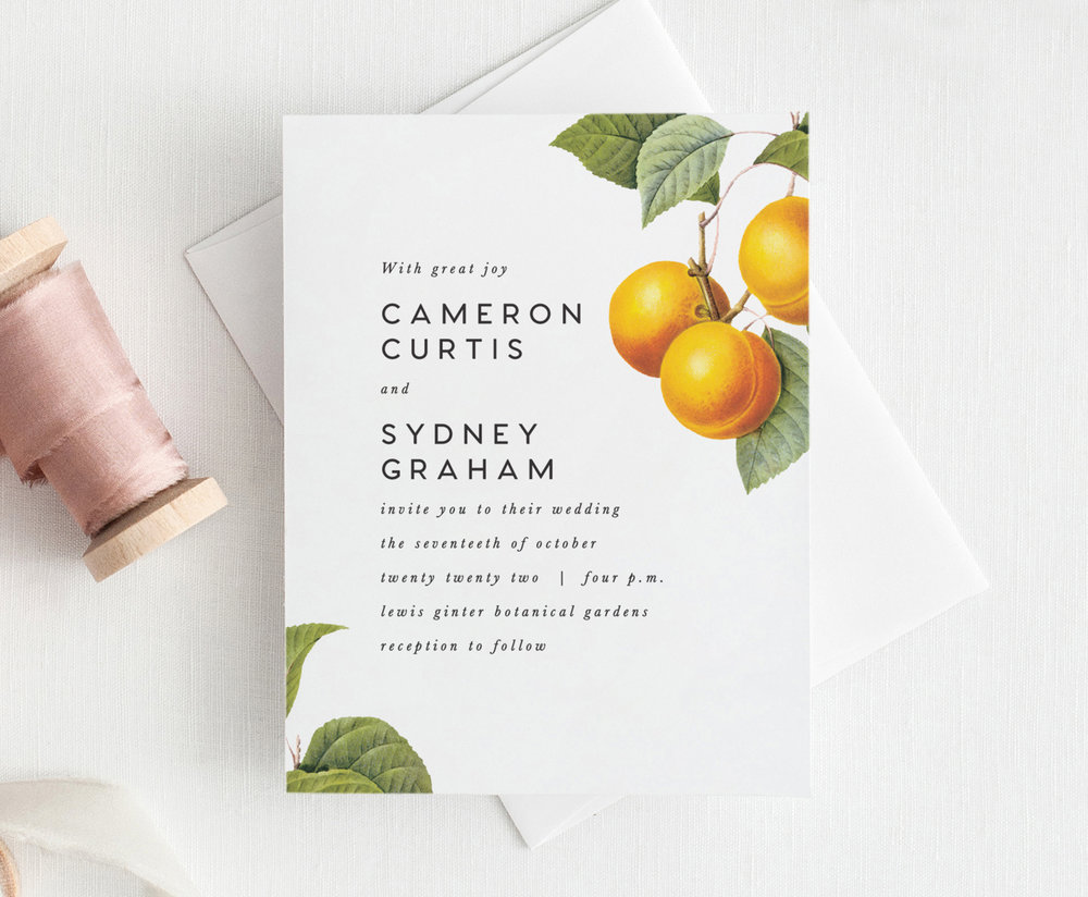 Apricot Wedding Invitation