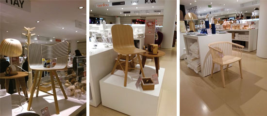 Colé _ hits the ground floor of Rinascente Milan, with our Tria chair and Secreto chair. // December 2013
