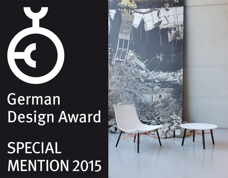 Rossin _ Luc lounge chair is getting a Special mention,  Design Award. //October 2014