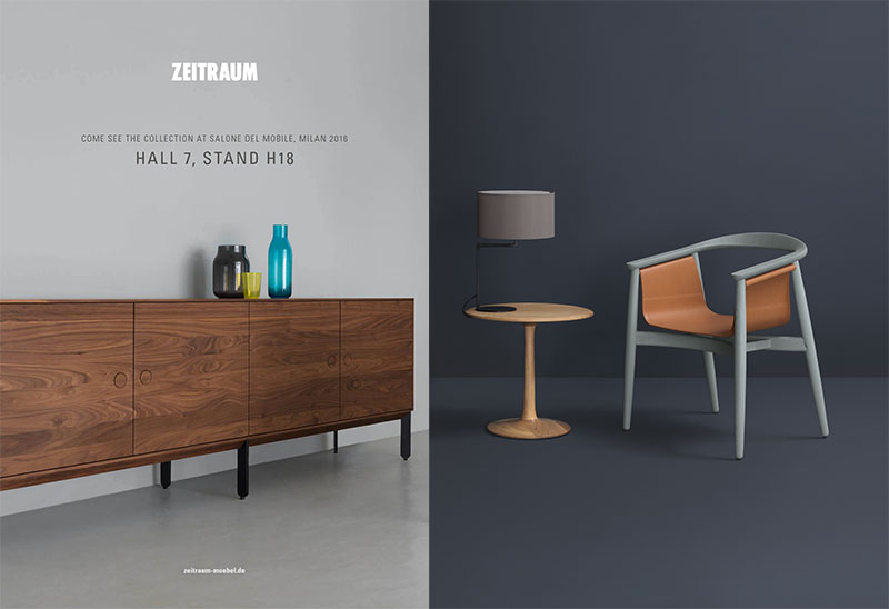 Zeitraum_  Pelle   chair now in upholstered textile