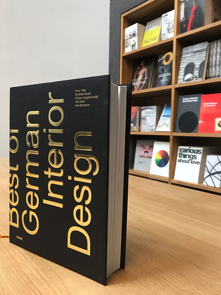 BEST OF GERMAN INTERIOR DESIGN_ we are proud to be part of the book Best of German Interior Design.Published by Distanz Verlag, Berlin. 50 Designers and 50 manufactures selected in one book. Berlin, Germany // September 2017 -