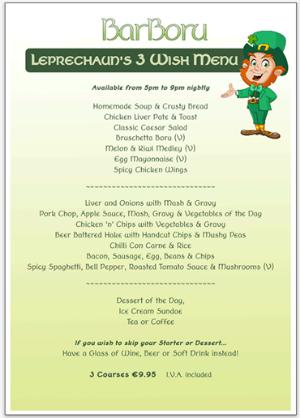 @Barboru leprechauns menu 9,95€