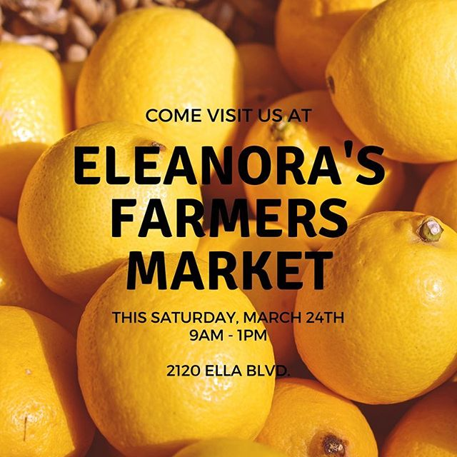 Spring if finally here and so are our Meyer Lemon trees! Drop by Eleanora's Farmers Market this Saturday to purchase yours. For fun Meyer Lemon recipes visit https://www.sunset.com/food-wine/kitchen-assistant/meyer-lemon-recipes