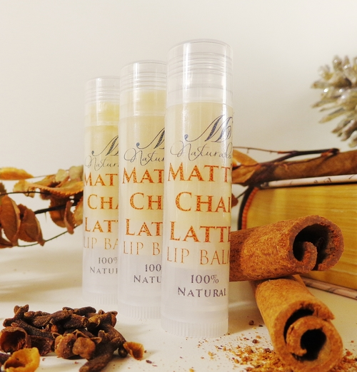 Matt's Chai Latte Lip Balm created after Matt's favorite tea!
