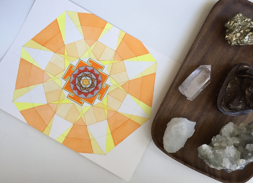 SUN yantra Mandala, available at  holisticspaces.com