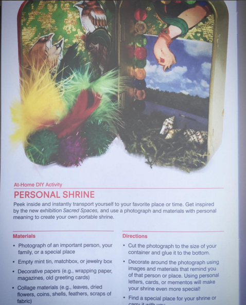 This looks fun! From  @rubinmuseum   #diy   #personalshrine   #holisticspaces   #sacredspaces