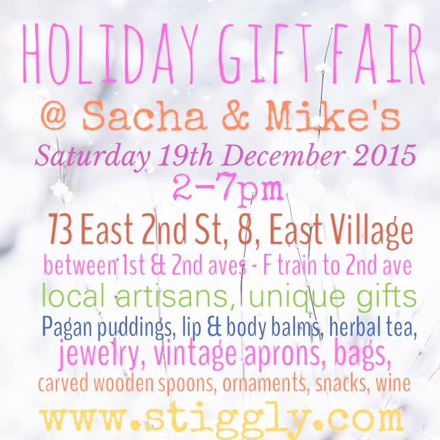 Come visit me and  @stiggly  selling fun  holiday gifts  in  #NYC