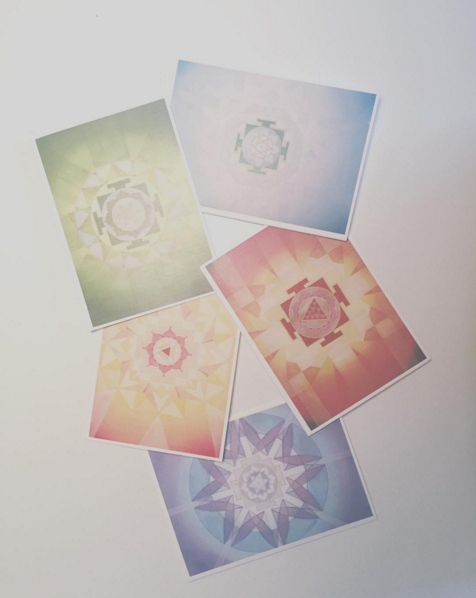 My new #mandala #notecards #holisticspaces