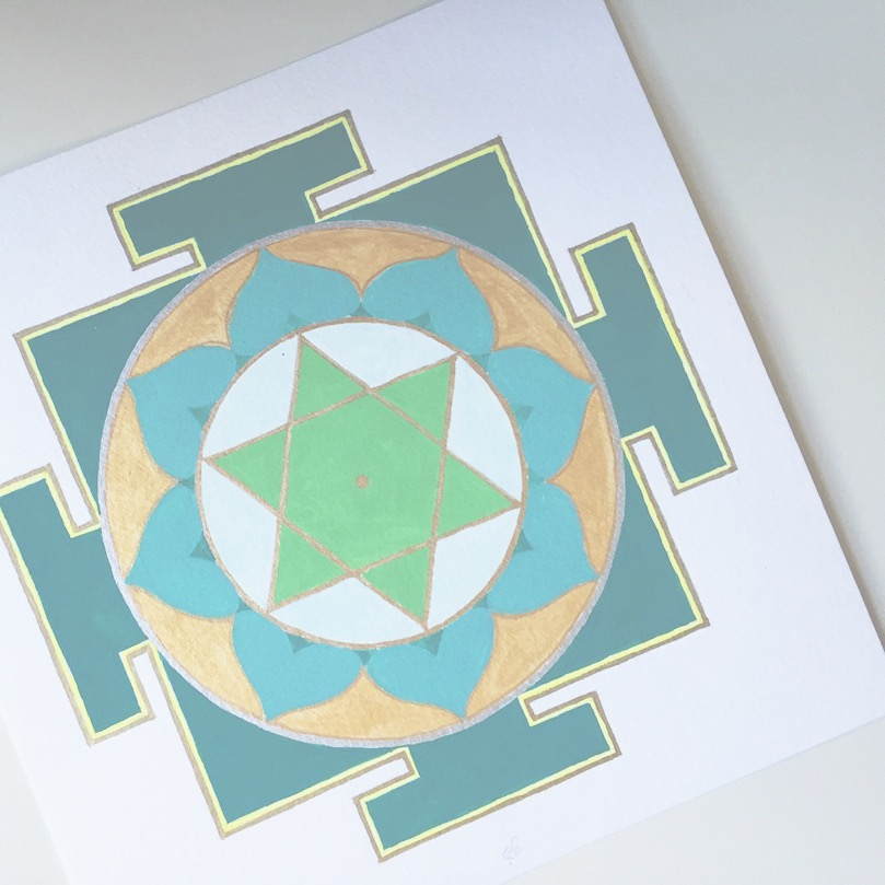 #mantraMonday ! the  Mercury yantra  today. Because mercury rules intelligence and speech as well as playfulness, it may be place in the  Completion  area of the  feng shui bagua map  to support these intentions.  The associated mantra is: Om Bhum Bhudaye Namah Om   #mantra   #yantra   #vedicnumbers   #sacredart   #sacredgeometry     #holisticspaces   #mercury   #theplanets