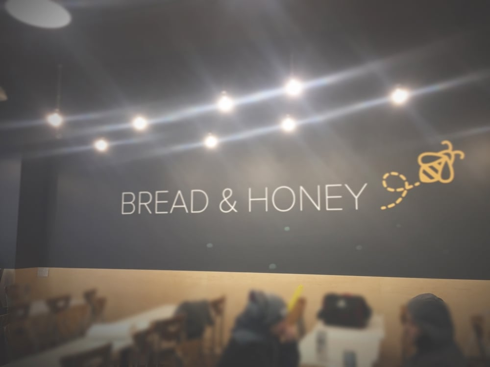 Finished with our interior renovation at #breadandhoney #mapleply #cafeinterior