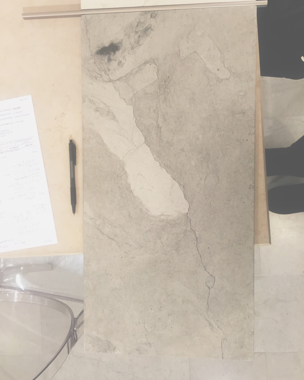 Planning out a serene bathroom  #limestone   #smoke   #artistictile