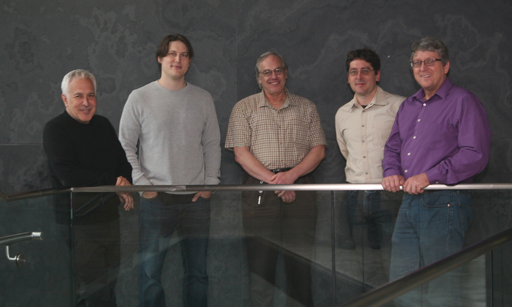 Jeff Lichtman, Josh Morgan, Jose Conchello, Daniel Berger, and Richard Schalek (Courtesy Department of Molecular and Cellular Biology)