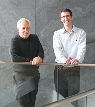 Jeff Lichtman and Doug Richardson.  Courtesy of Department of Molecular and Cellular Biology.