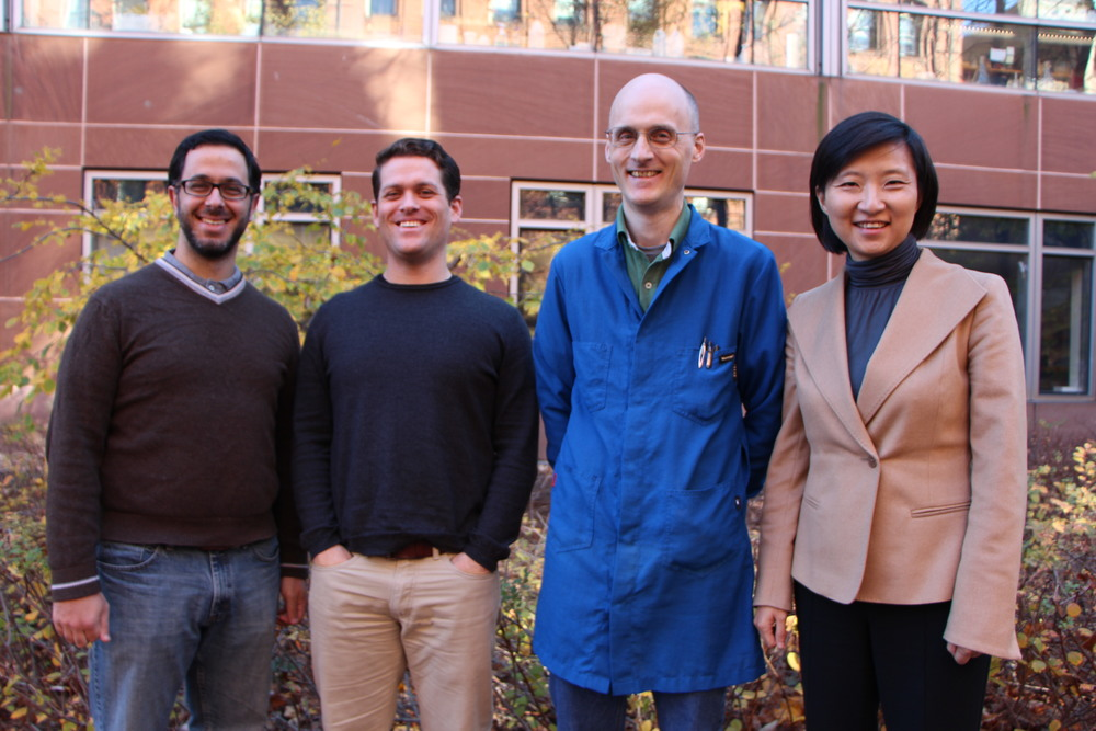 Yaron Sigal, Colenso Speer, Hazen Babcock and Xiaowei Zhuang (Photograph courtesy of Kendal Kelly)