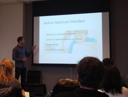 Tobias Kaiser, MS, Feng Lab, MIT, spoke about developing new gene therapy for brain disorders.