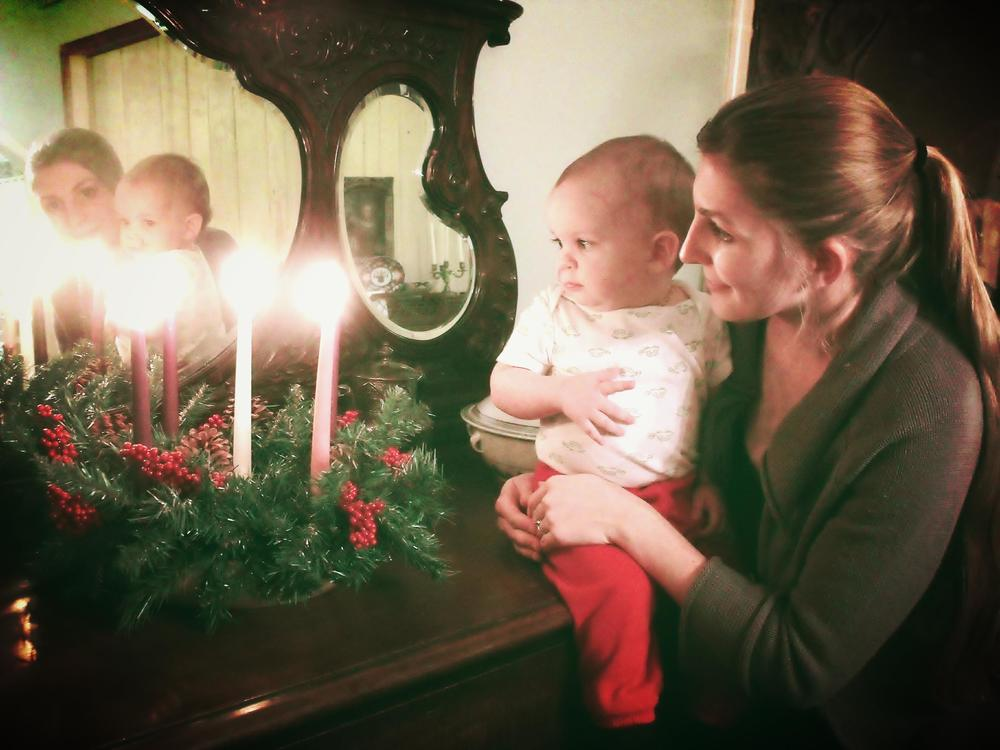 Virginia's first Advent wreath.