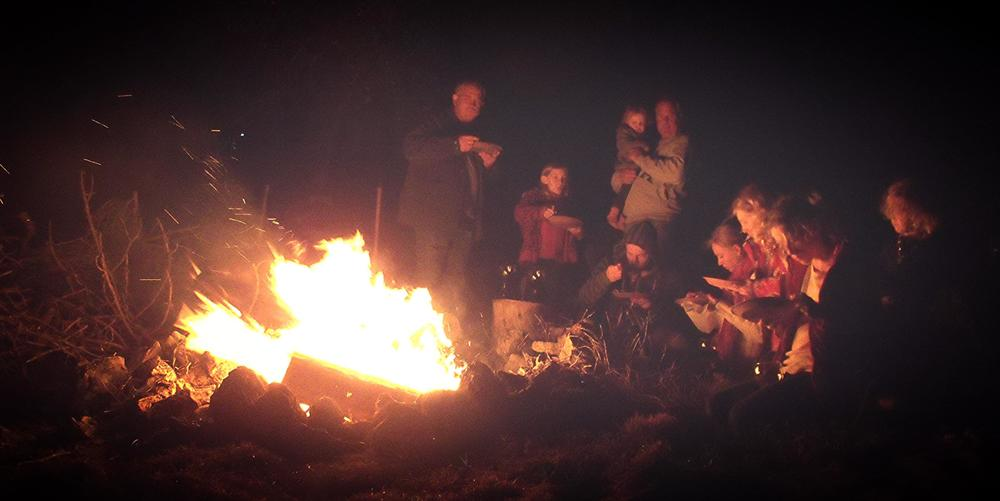 Feasting Epiphany with middle eastern food by the campfire.