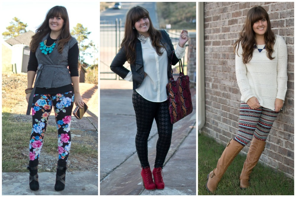 How to Wear :: Printed Leggings Three Ways for Fall — aj ...
