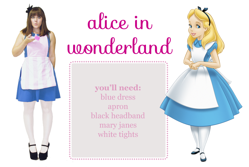 Image result for diy alice in wonderland adult costume  sc 1 st  Simple Made Pretty & 30 Last Minute Halloween Costume Ideas Using a Blue Dress - Simple ...