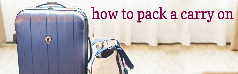 How to Pack a Carry-on :: I've experimented with plenty of ways to pack my carry-on bag, but this is by far my favorite. Using a method where I stack and roll the contents of my suitcase, I'm able to fit more and keep my clothes in ready-to-wear condition.