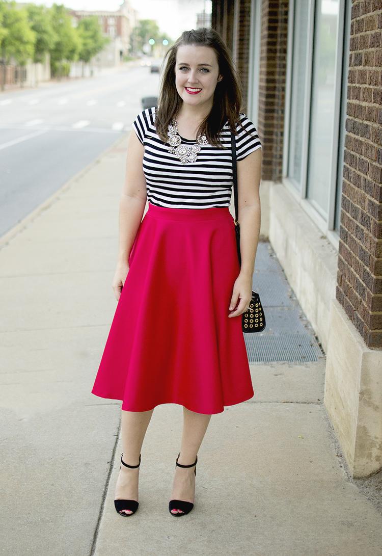 AJ Wears :: A bright midi skirt — aj wears clothes