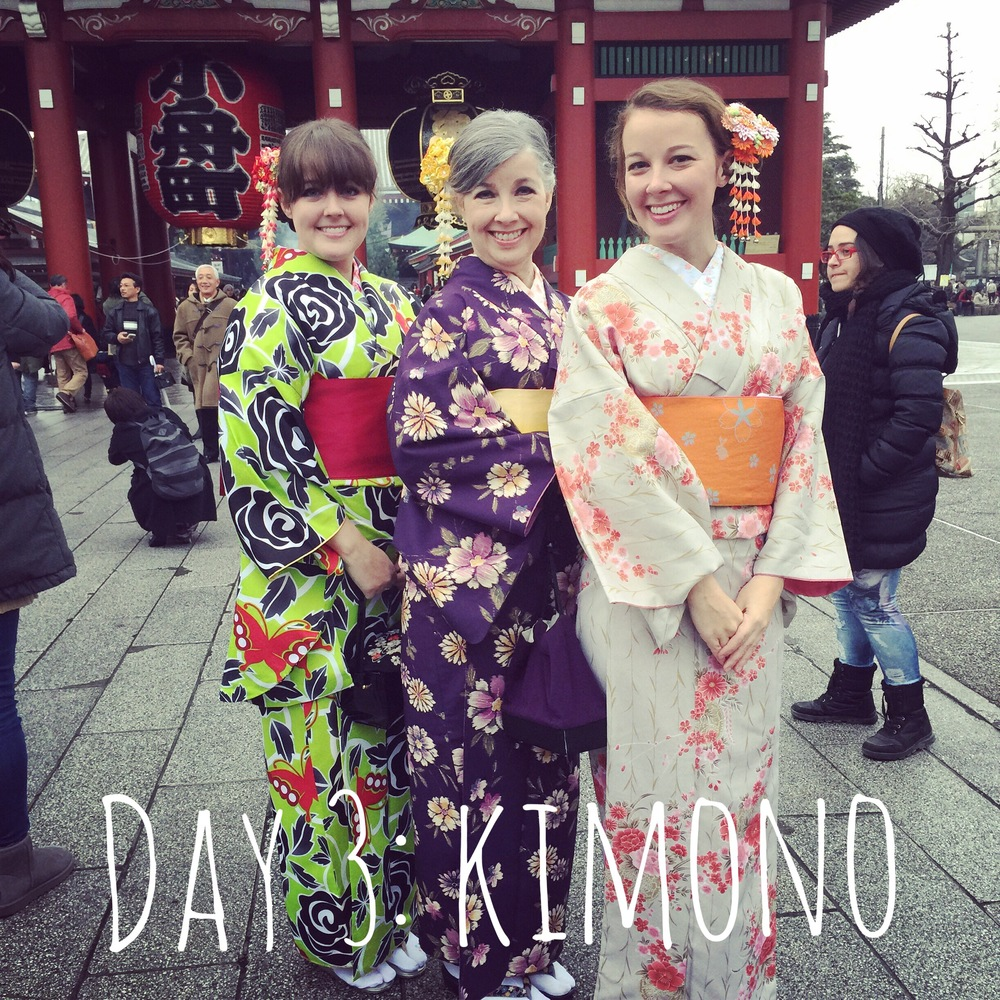 We rented kimonos and went to get our fortunes at a famous shrine. Then it was up the Tokyo SkyTree for an amazing night view of the city.