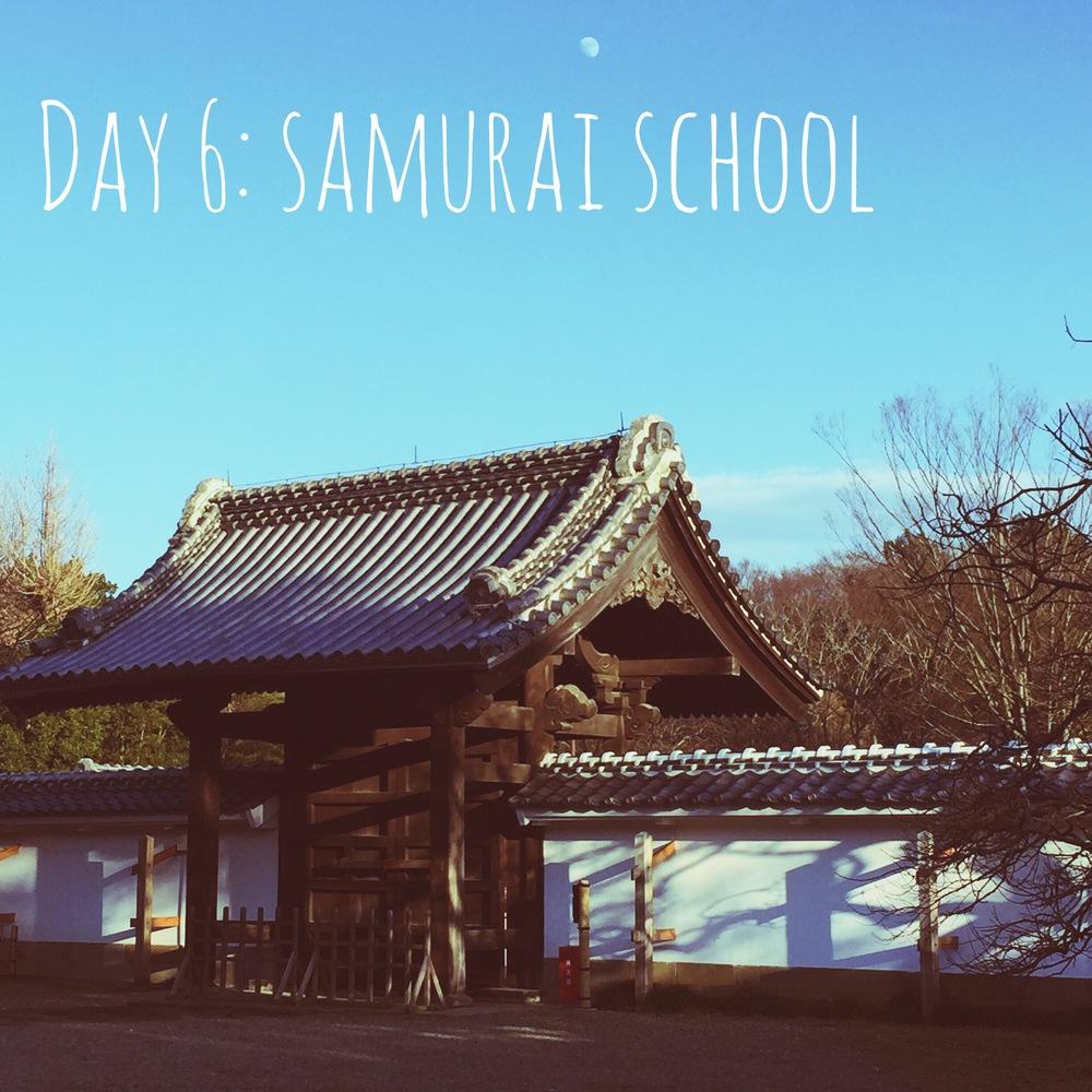 Exploring an old samurai school.