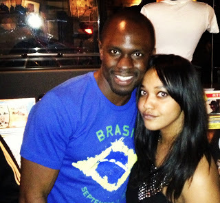 Me with actor, philanthropist, and fashion designer, Gbenga Akinnagbe